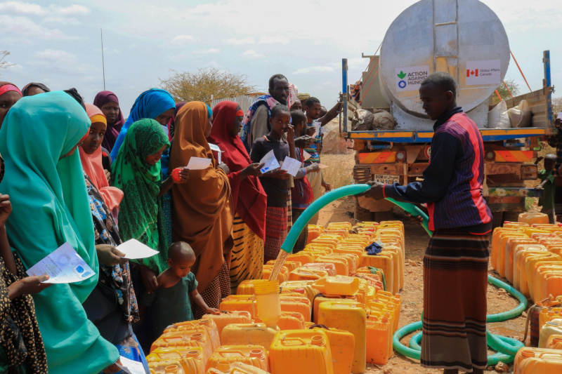 Water trucking in Somalia - Action Against Hunger Canada