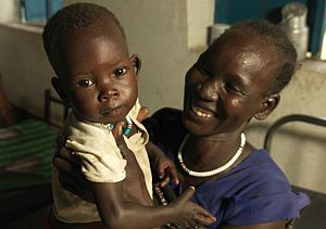 Mother and Child at Stabilization Centre - Action Against Hunger